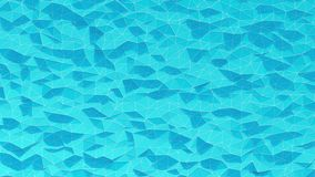 Azul abstrato fundo cristalizado Movimento de onda na superfície poligonal com linhas brancas video estoque