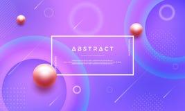Azul abstrato moderno, rosa, fundo roxo com as três bolas da pérola Podem ser usados para seus cartazes e mais, o texto e o proje ilustração royalty free