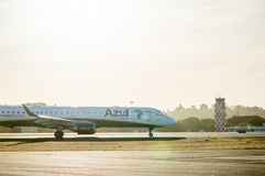 Azul Airlines airplane stock image