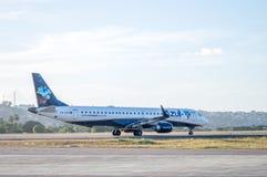 Azul Airlines-Flugzeug Stockfotografie