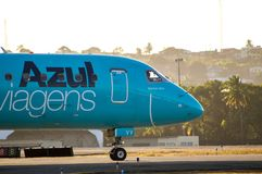 Azul Airlines taxiing Royalty Free Stock Photography