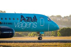 Azul Airlines taxiing Royalty Free Stock Photo