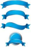Azul ajustado da bandeira Foto de Stock