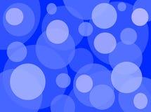 Azul al azar del modelo del círculo imágenes de archivo libres de regalías