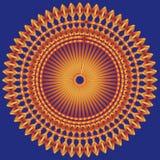 Azul alaranjado do fundo Imagem de Stock Royalty Free