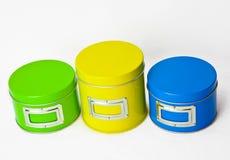 Azul amarelo verde Imagens de Stock