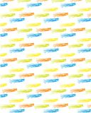Azul amarillo-naranja del fondo del modelo del color del movimiento abstracto del cepillo stock de ilustración