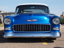 1955 azul antiguo restaurado Chevrolet Belair Fotografía de archivo libre de regalías