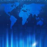 Azul Backgorund do negócio Fotos de Stock
