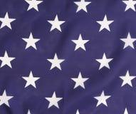 Azul backlit da bandeira americana com estrelas brancas. imagens de stock royalty free