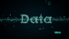 Azul binario de los datos de las palabras claves libre illustration