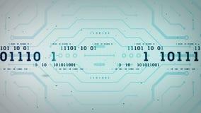 Azul binario Lite de las secuencias de datos libre illustration