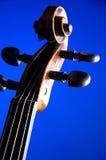 Azul Bk do rolo do violino Foto de Stock Royalty Free