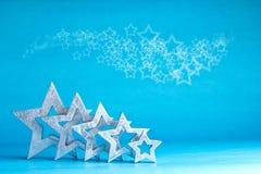 Azul blanco de la plata de muchas estrellas Imagenes de archivo