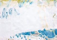 Azul blanco del fondo de Ebru Imagen de archivo libre de regalías