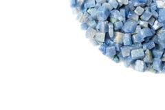 Azul boquira granite, crushed granite blue on a white background. Azul boquira granite, crushed granite blue on a white stock images
