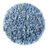 Azul boquira granite, crushed granite blue on a white background. Azul boquira granite, crushed granite blue on a white stock photos