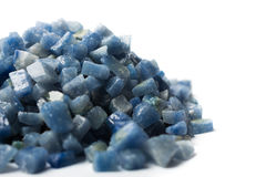Azul boquira granite, crushed granite blue on a white background. Azul boquira granite, crushed granite blue on a white royalty free stock photos