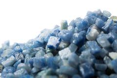 Azul boquira granite, crushed granite blue on a white background. Azul boquira granite, crushed granite blue on a white stock photo