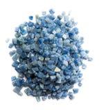 Azul boquira granite, crushed granite blue on a white background. Azul boquira granite, crushed granite blue on a white royalty free stock images