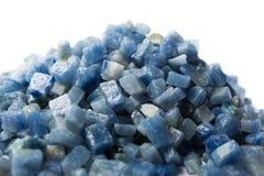 Azul boquira granite, crushed granite blue on a white background. Azul boquira granite, crushed granite blue on a white stock photography
