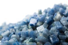 Azul boquira granite, crushed granite blue on a white background. Azul boquira granite, crushed granite blue on a white stock image