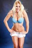 Azul borbulhante Foto de Stock Royalty Free