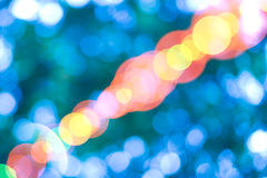 Azul brillante del bokeh hermoso Fotografía de archivo