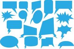 Azul cómico de la burbuja del discurso Fotos de archivo