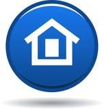 Azul casero del icono del web del botón ilustración del vector