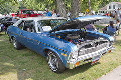 1971 azul Chevy Nova Fotografia de Stock Royalty Free