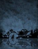 Azul chino Foto de archivo libre de regalías