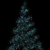 Azul, ciano, estrelas do brilho de turquesa, confetes ilustração royalty free