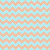 Azul claro anaranjado en colores pastel colorido inconsútil del diseño geométrico de las flechas del vector del modelo de zigzag  Fotografía de archivo