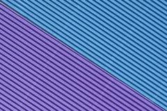 Azul colorido texturizado y cartulina acanalada púrpura imagen de archivo libre de regalías