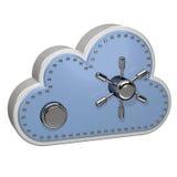 Azul computacional de la nube Fotografía de archivo libre de regalías