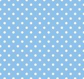 Azul con los puntos de polca blancos Foto de archivo libre de regalías