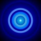 Azul concêntrico e o branco circundam o fundo Fotografia de Stock