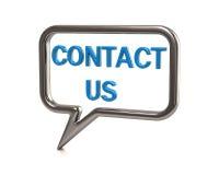 Azul contacte-nos ícone Imagem de Stock Royalty Free