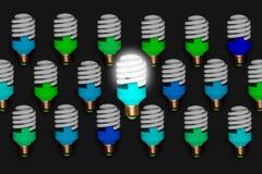 Azul creativo a diferencia de los otros modelo del concepto en fondo sólido libre illustration