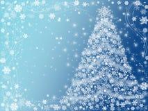 Azul da árvore de Natal Fotos de Stock