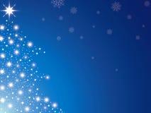 Azul da árvore de Natal Imagens de Stock Royalty Free