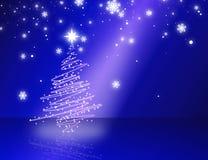 Azul da árvore de Natal Fotografia de Stock