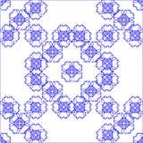 Azul da abstração do teste padrão Imagens de Stock Royalty Free