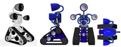 Azul da caixa de crescimento ilustração do vetor