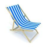 Azul da cama da praia ilustração stock