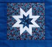 Azul da estrela do Quilt Fotografia de Stock