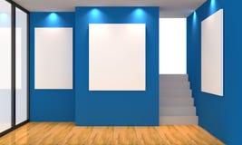 Azul da galeria Imagens de Stock Royalty Free