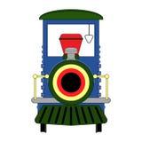 Azul da locomotiva de vapor isolado na ilustração branca do fundo Fotos de Stock Royalty Free