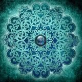 Azul da mandala da paz Fotografia de Stock